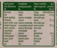 Natives Olivenöl Extra - Nährwertangaben - de