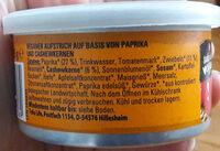 Paprika-Cashew veganer Bio-Aufstrich - Zutaten - de