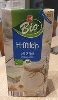 Bio H-Milch 3,8% Fett - Produkt - de