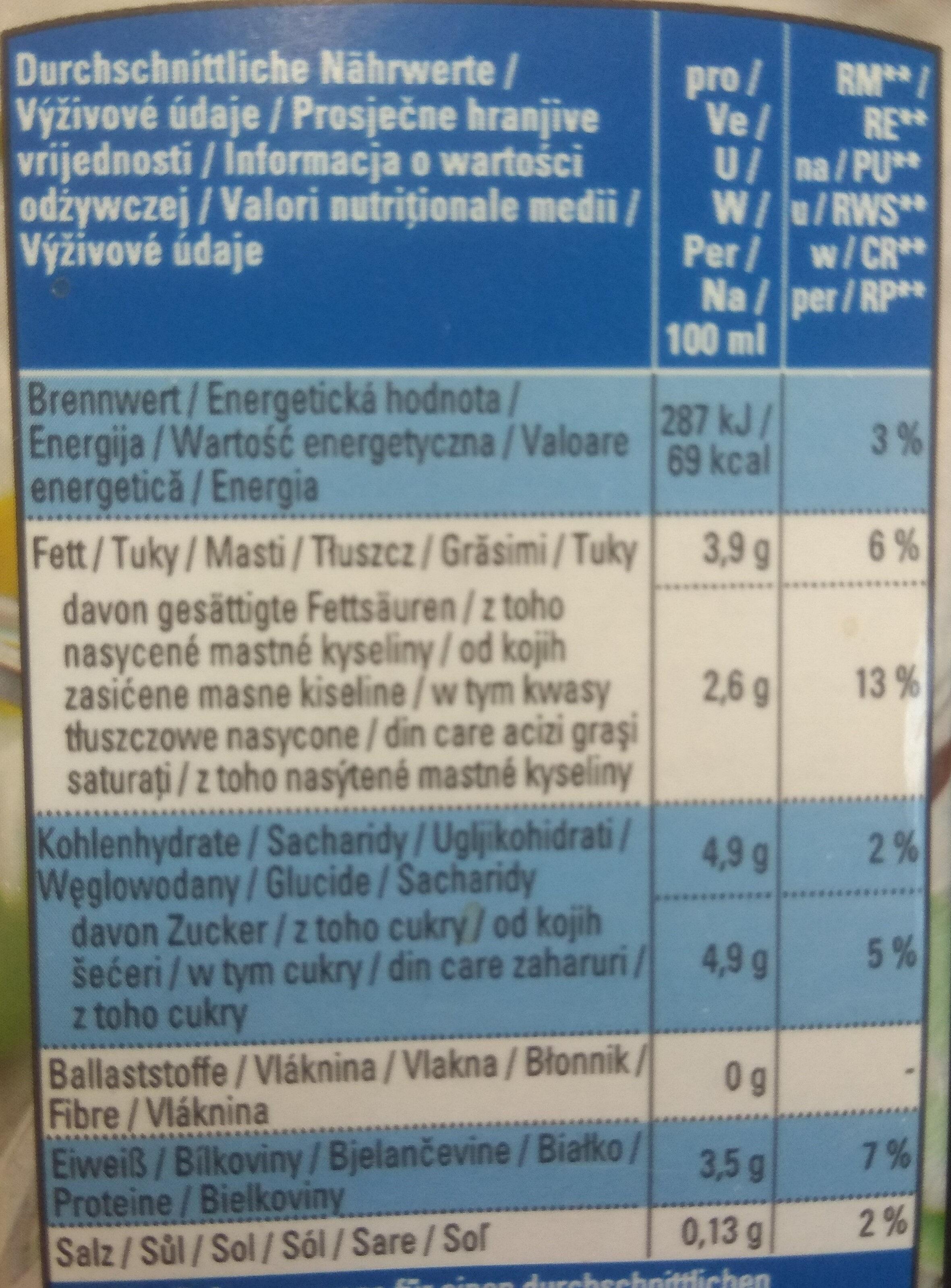 Bio H-Milch 3,8% Fett - Zutaten - de