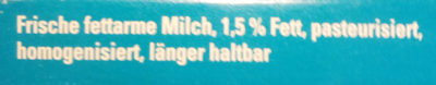 Frische fettarme Milch - Ingrediënten - de