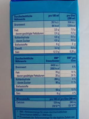 Frische Vollmilch 3,5% Fett - Ingrediënten