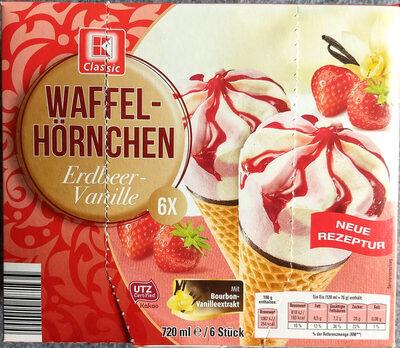 Waffel-Hörnchen Erdbeer-Vanille - Produit - de
