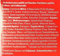 Waffel-Hörnchen Erdbeer-Vanille - Ingrédients - de