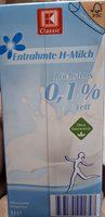 Entrahmte H-Milch - Produit - de