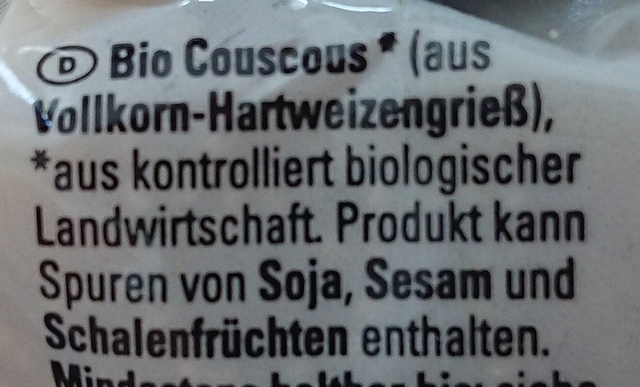 K Classic Bio Couscous - Zutaten - de