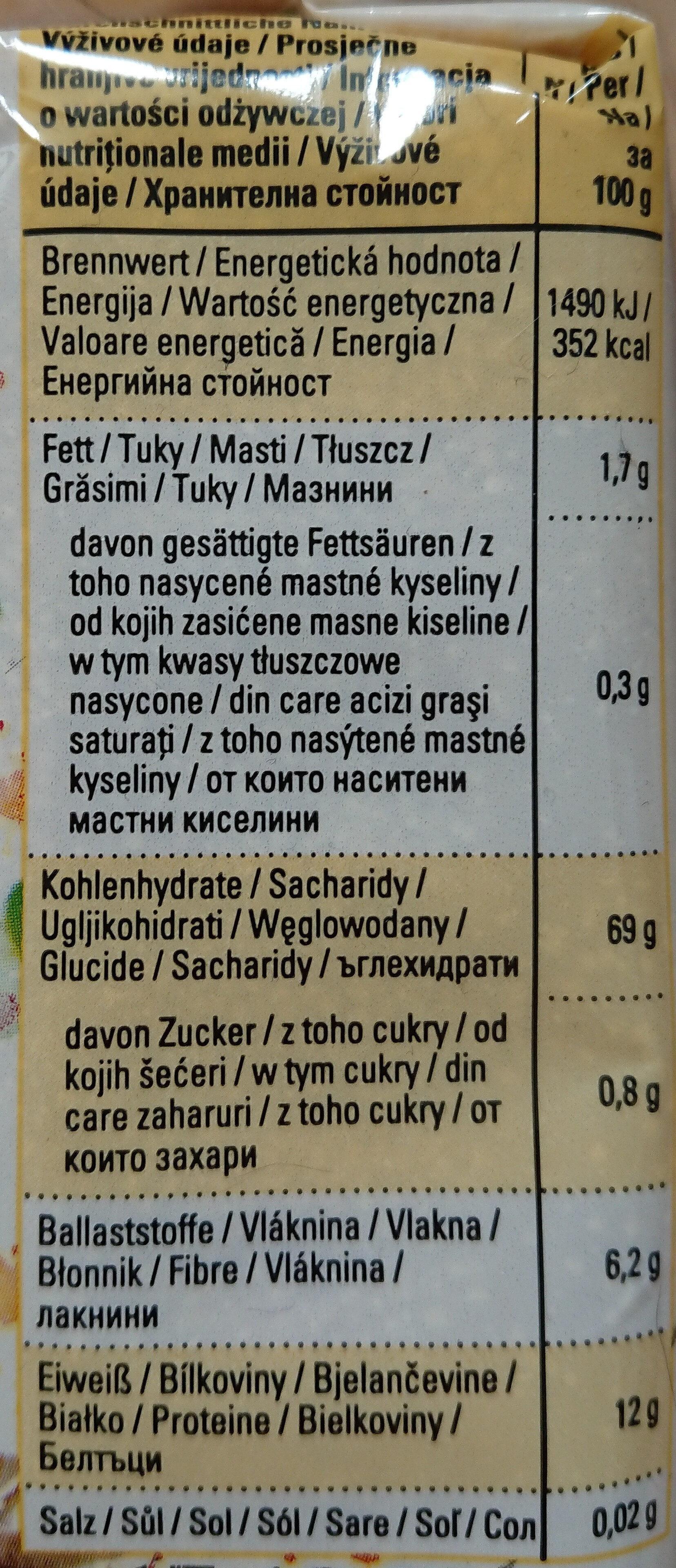 K Classic Bio Couscous - Nährwertangaben - de