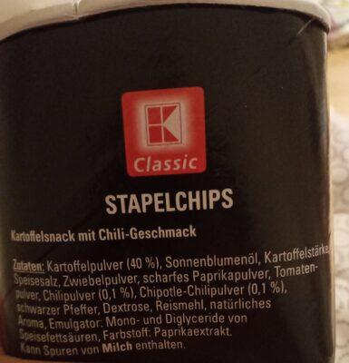 Stapel Chips Hot Chili Geschmack - 成分 - de
