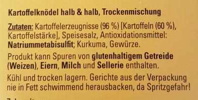 Kartoffelknödel halb & halb - Ingrediënten
