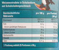 K-Classic Choco Happs - Nutrition facts
