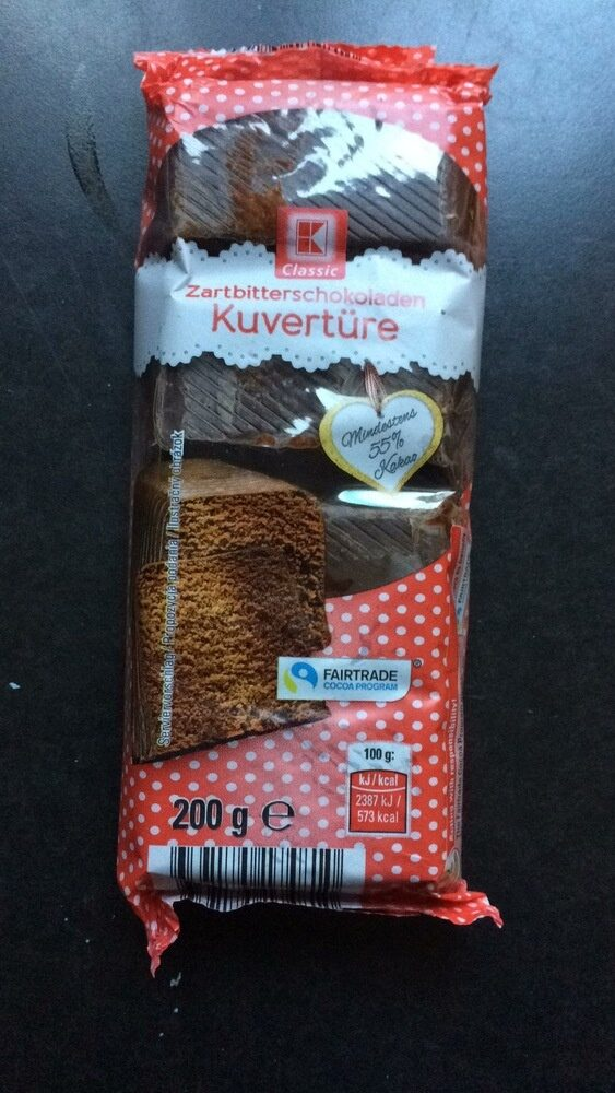 Classic Zartbitterschokoladen Kuvertüre - Produit - de