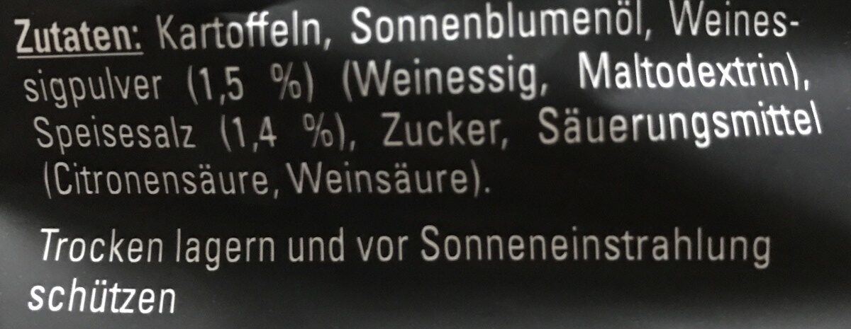 Kesselchips Salt&Vinegar - Ingrédients - fr