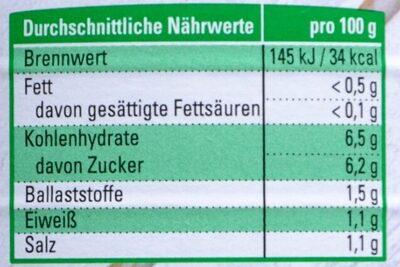 K-Bio Gewürzgurken - Nutrition facts