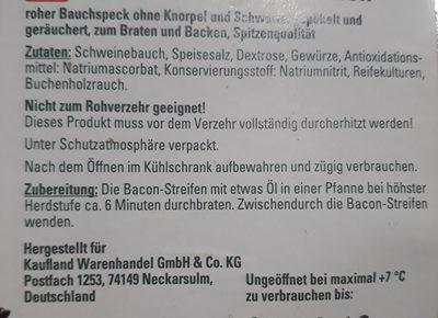Bacon streifen - Ingrédients