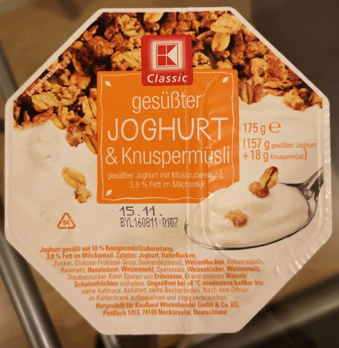 Joghurt knuspermusli - Produit