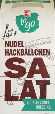 Nudel-Hackbällchen Salat mit alte Zunft-Dressing - Product