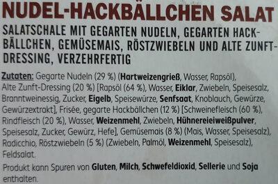 Nudel-Hackbällchen Salat mit alte Zunft-Dressing - Ingredients