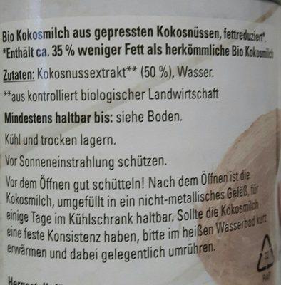 Kokosmilch - Zutaten - de