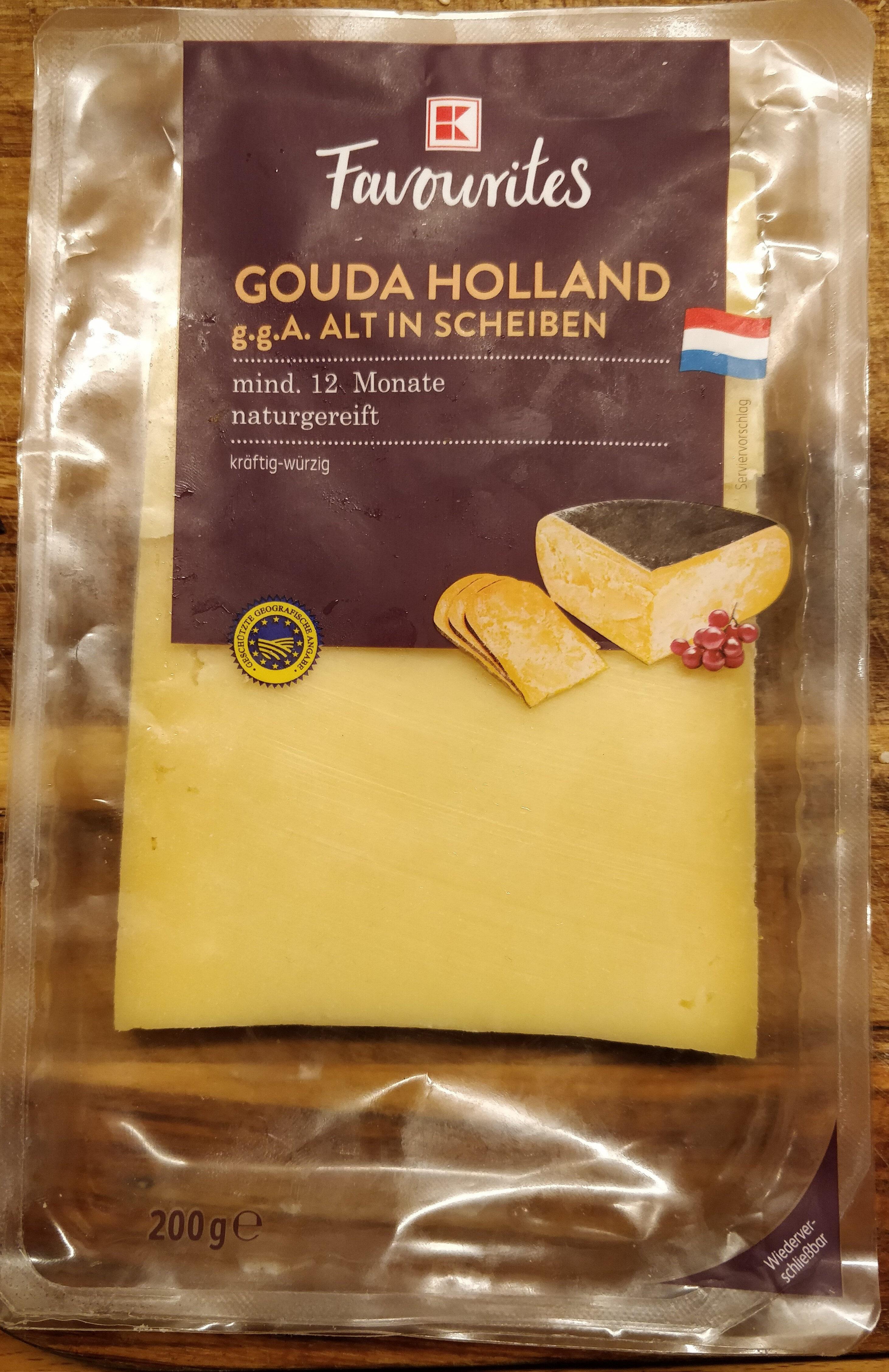 Gouda Holland g.g.A alt in Scheiben 48% Fett i.Tr. - Product - de
