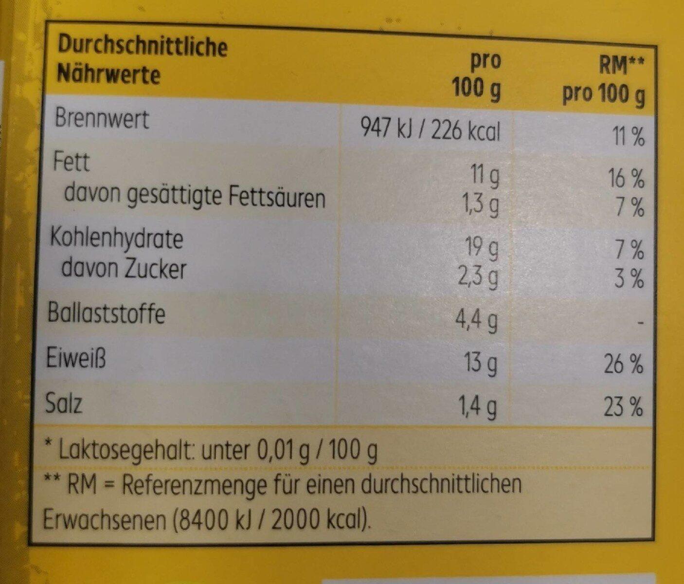 Vegane Schnitzel - Nährwertangaben - de
