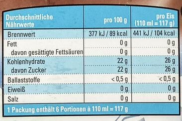 Cametti Typ Cola - Informations nutritionnelles - de