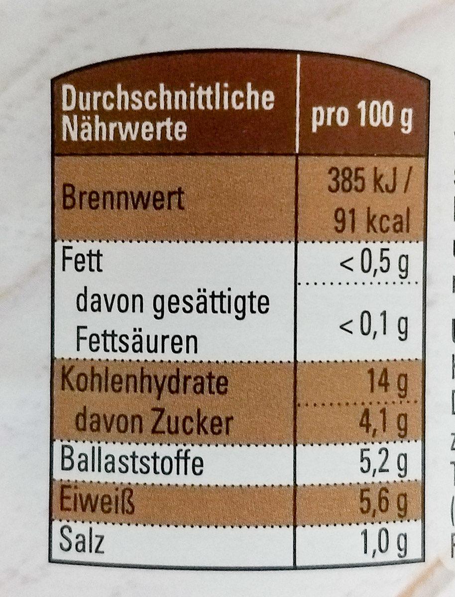 Weiße Bohnen in Tomatensoße - Nutrition facts