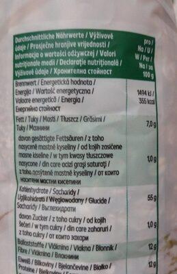 Basis Müsli - Informations nutritionnelles - de