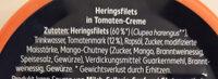 Heringsfilets Tomaten-Creme - Ingredients - de