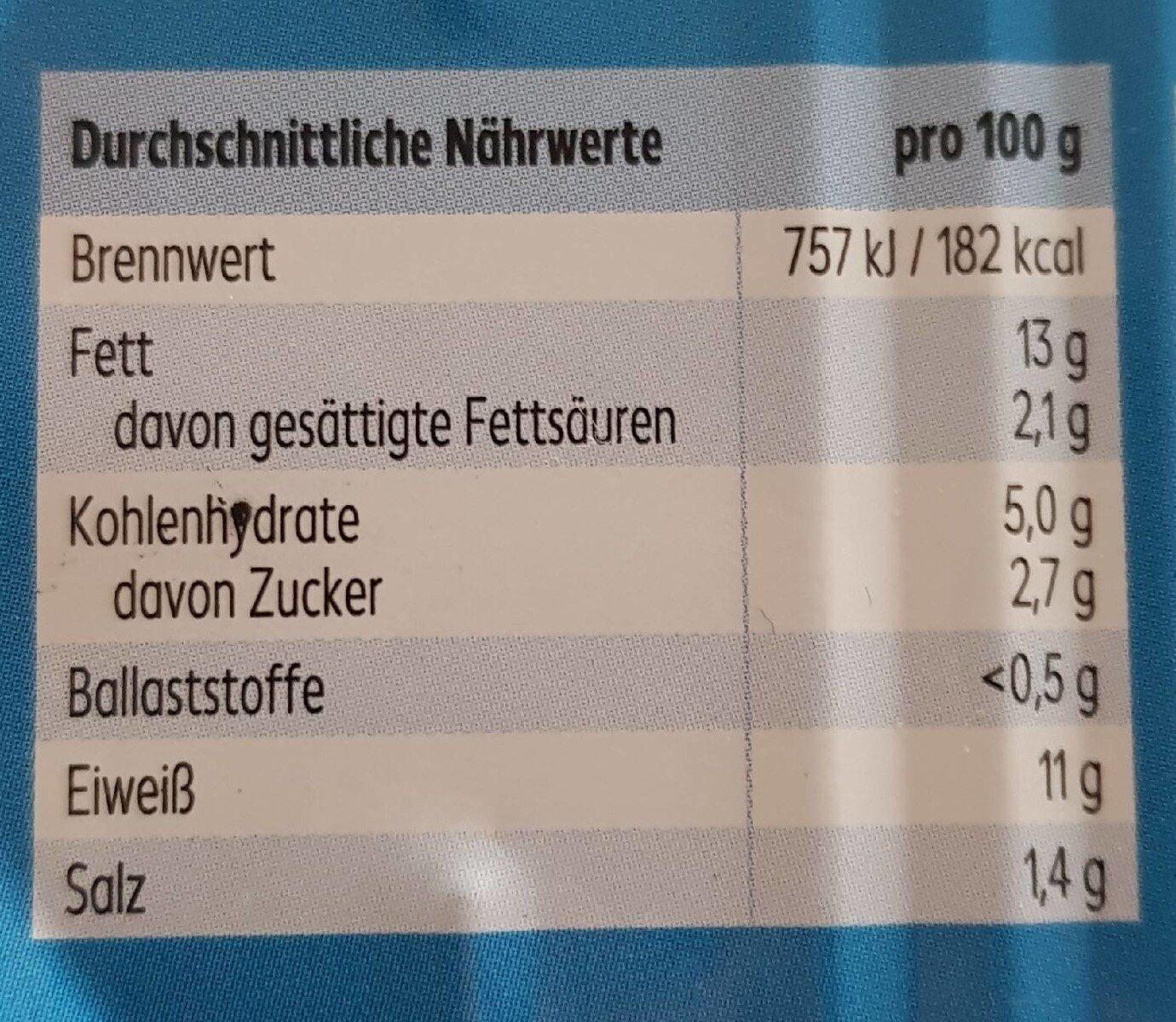 Herringsfilets in Tomaten-Sauce - Nährwertangaben - de