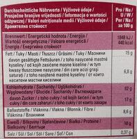 Knusper-Müsli mit Früchten - Voedingswaarden - de