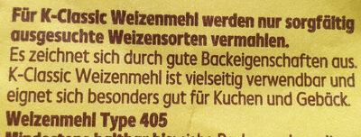 Weizenmehl Typ 405 - Ingredienti - de