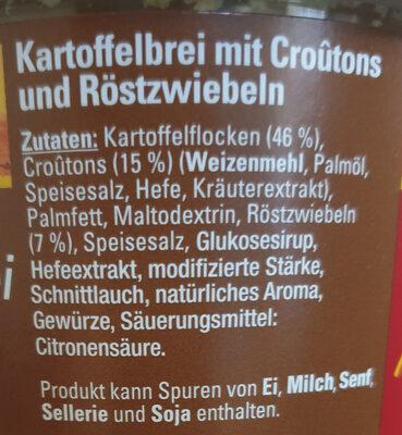 Kartoffelbrei mit Croûtons und Röstzwiebeln - Ingrédients