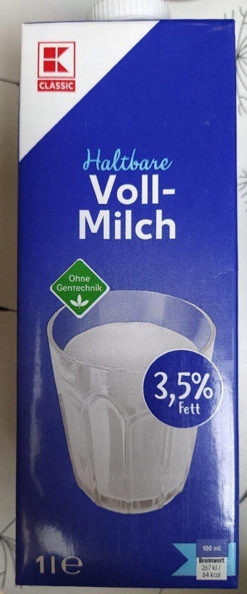 Haltbare Vollmilch - Prodotto - de