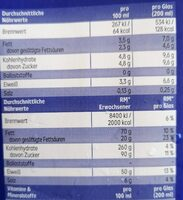 Haltbare Voll-Milch - Informations nutritionnelles - fr