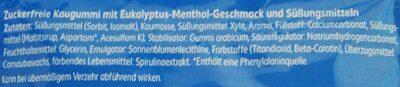 Eukalyptus Menthol Kaugummi - Ingredients - de