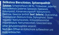 Delikatess Bierschinken - Ingrediënten - de
