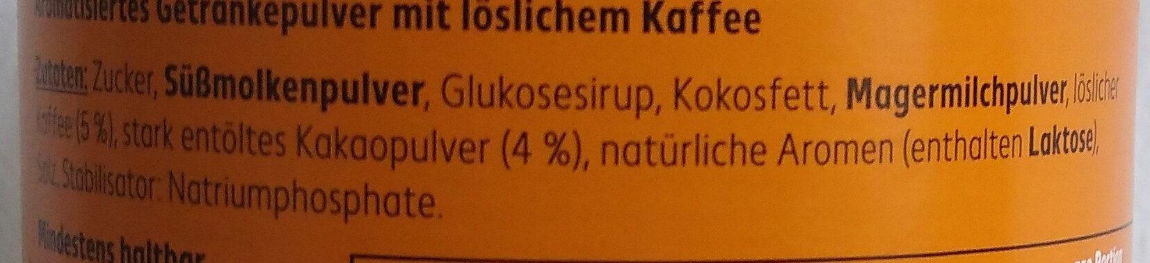 Typ Cappucino Karamell-Geschmack - Ingredients - de