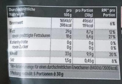 Grana Padano DOP - Nährwertangaben - de