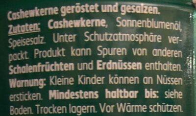 Cashew-Kerne - Ingrediënten - de