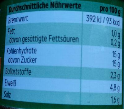 Tomatenmark 2-fach konzentriert - Nutrition facts