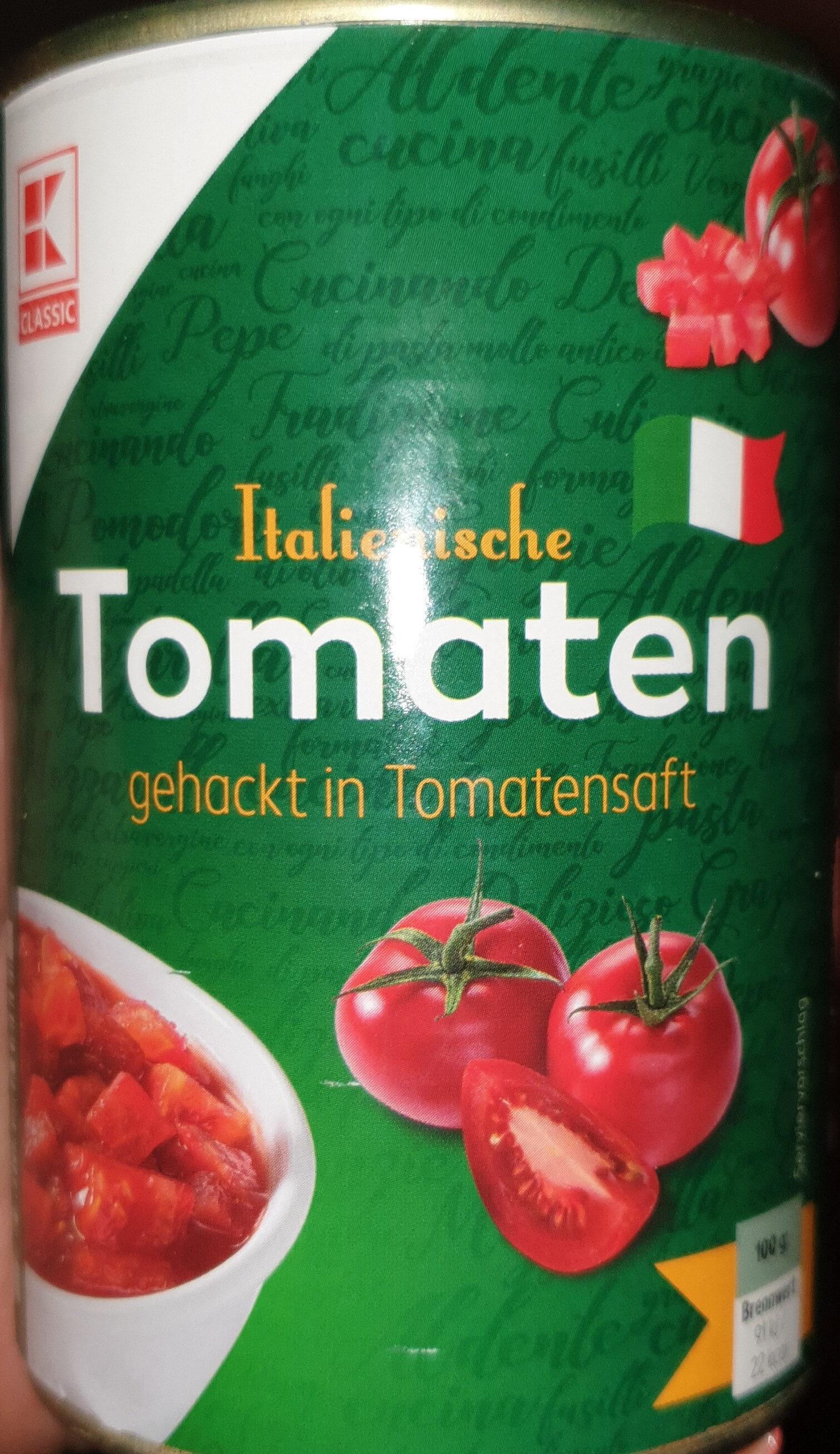 Italienische Tomaten gehackt in Tomatensaft - Product - de
