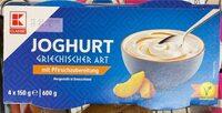 Joghurt griechischer Art mit Pfirsichzubereitung - Prodotto - de
