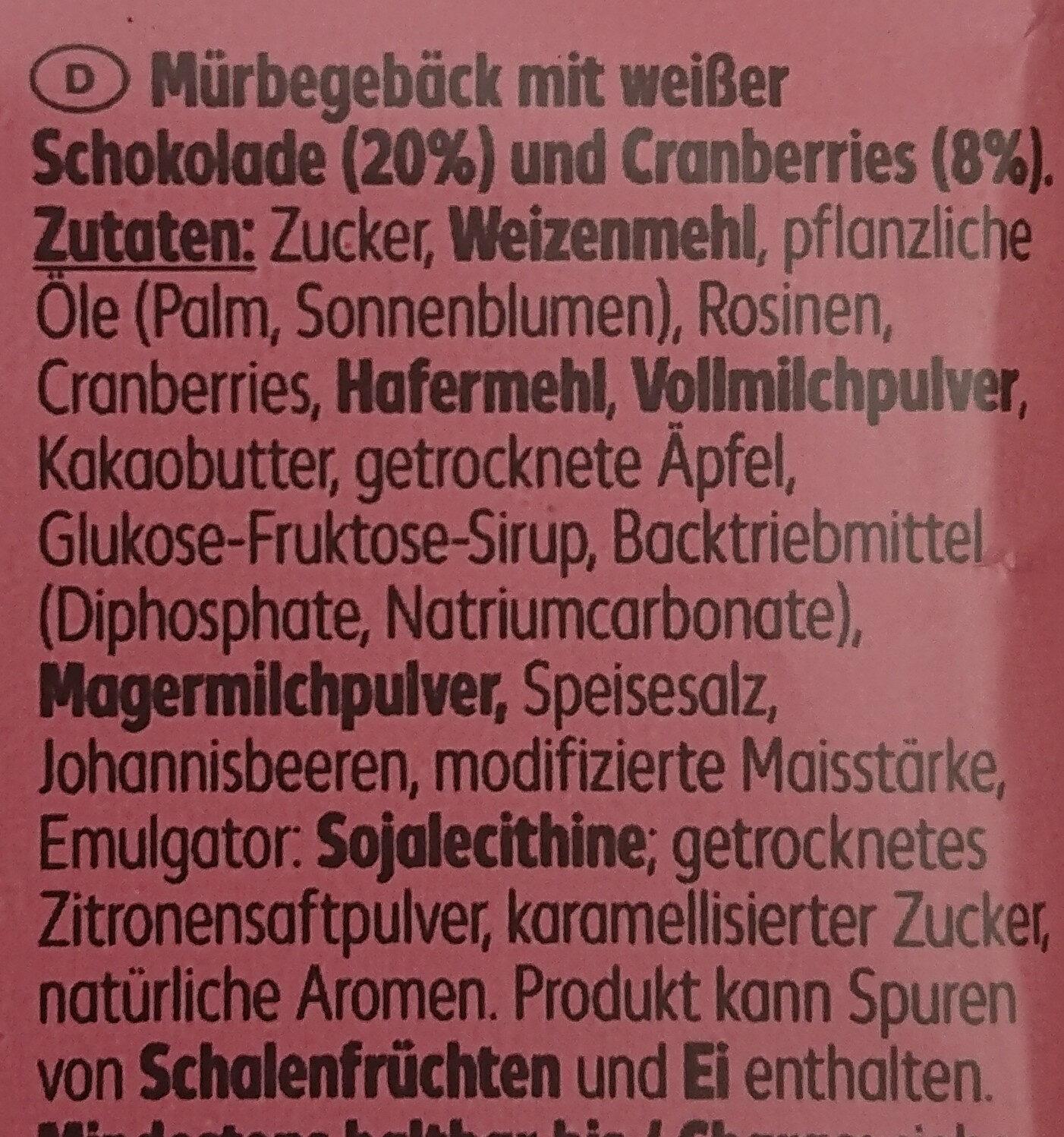 Cranberry Cookies - Ingrédients - de