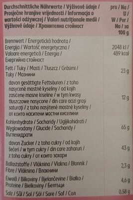 Cranberry Cookies - Informations nutritionnelles - de