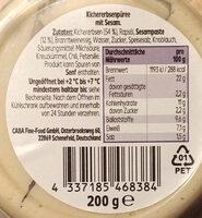 Hummus Classic - Ingredients - de
