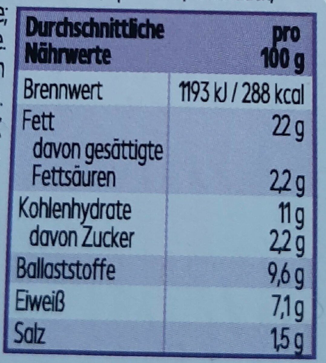 Hummus Classic - Nutrition facts - de