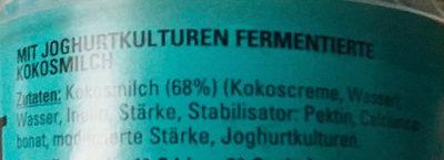 Veganer Cocogurt - Inhaltsstoffe