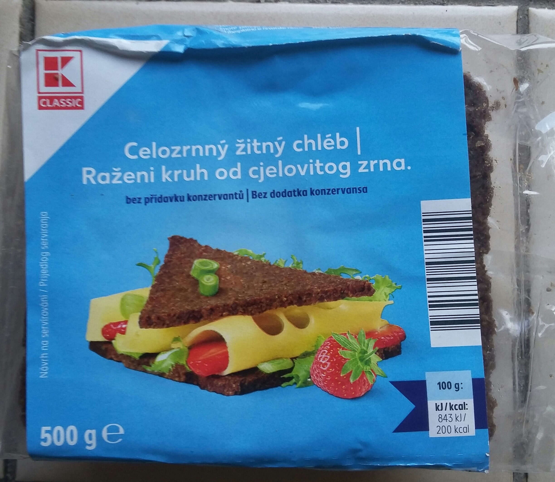 celozrnný žitný chléb - Produit - cs