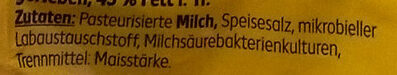 Mozzarella mild gerieben - Ingredients - de