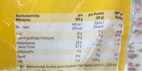 Mozzarella mild gerieben - Nutrition facts - de